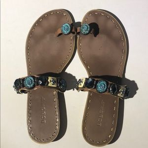 BCBG - Sz 9.5 - gem stone sandals